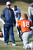 Denver Broncos head coach John Fox  talks with Denver Broncos quarterback Peyton Manning (18) during practice Wednesday, January 9, 2013 at Dove Valley.  John Leyba, The Denver Post