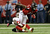 Wide receiver Julio Jones #11 of the Atlanta Falcons runs after a catch in the first half against the San Francisco 49ers in the NFC Championship game at the Georgia Dome on January 20, 2013 in Atlanta, Georgia.  (Photo by Streeter Lecka/Getty Images)