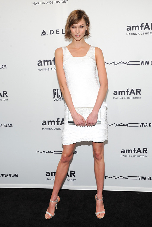 Description of . Model Karlie Kloss attends amfAR's New York gala at Cipriani Wall Street on Wednesday, Feb. 6, 2013 in New York. (Photo by Evan Agostini/Invision/AP)