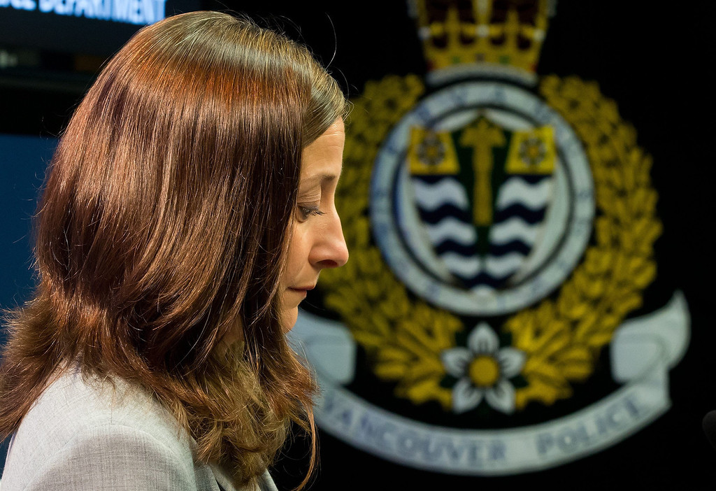 Description of . British Columbia Chief Coroner Lisa Lapointe pauses after speaking about the death of Canadian actor Corey Monteith during a news conference in Vancouver, British Columbia. Monteith, the actor who shot to fame in the hit TV series