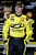 Sam Hornish Jr., driver of the #12 Alliance Truck Parks Ford, stands by his car in the garage during practice for the NASCAR Nationwide Series DRIVE4COPD 300 at Daytona International Speedway on February 21, 2013 in Daytona Beach, Florida.  (Photo by Sam Greenwood/Getty Images)
