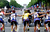 Tour de France overall leader Lance Armstrong of Austin, Texas, center, and his teammates from left: Benoit Joachim of Luxembourg, Kevin Livingstone and George Hincapie of the United States, and Vjatceslav Ekimov of Russia, ride up the Champs Elysees avenue during the 21st and final stage of the Tour de France cycling race in Paris on Sunday, July 23, 2000. (AP Photo/Laurent Rebours)