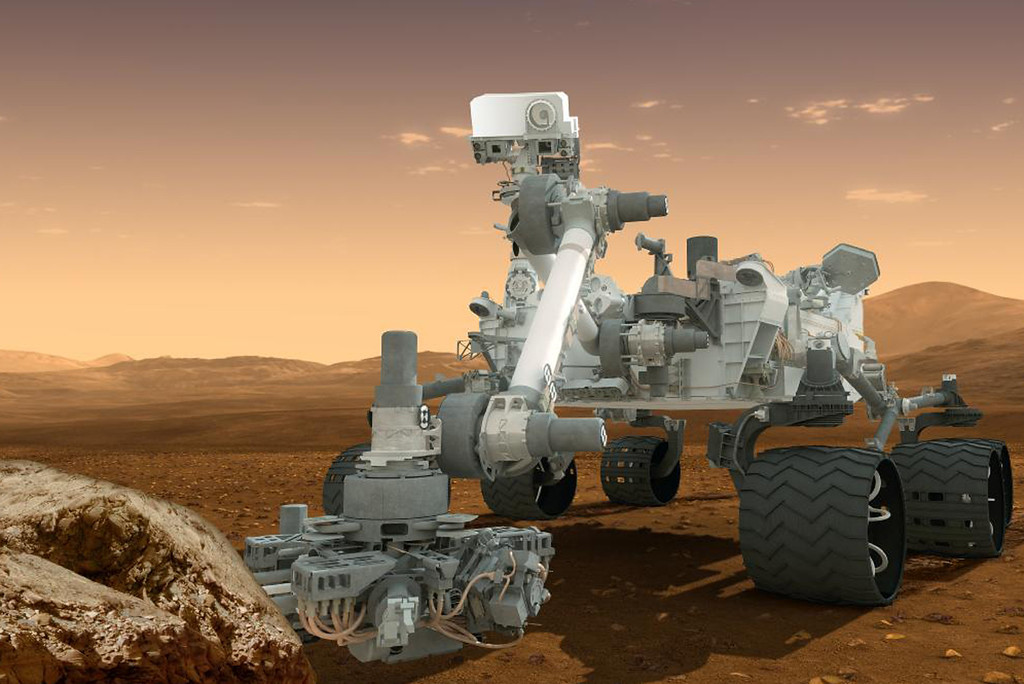 Description of . This artist's rendering provided by NASA shows the Curiosity rover on the surface of Mars. NASA announced Tuesday, Dec. 4, 2012, it plans to send another Curiosity-like rover to Mars in 2020. (AP Photo/NASA)