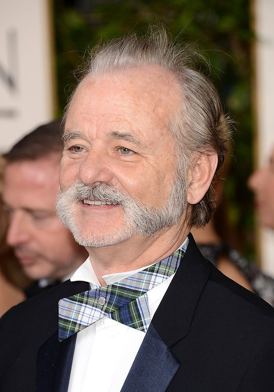 Description of . Actor Bill Murray arrives at the 70th Annual Golden Globe Awards held at The Beverly Hilton Hotel on January 13, 2013 in Beverly Hills, California.  (Photo by Jason Merritt/Getty Images)