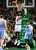 BOSTON, MA - FEBRUARY 10: Kevin Garnett #5 of the Boston Celtics takes a shot over Andre Iguodala #9 of the Denver Nuggets during the game on February 10, 2013 at TD Garden in Boston, Massachusetts.  (Photo by Jared Wickerham/Getty Images)