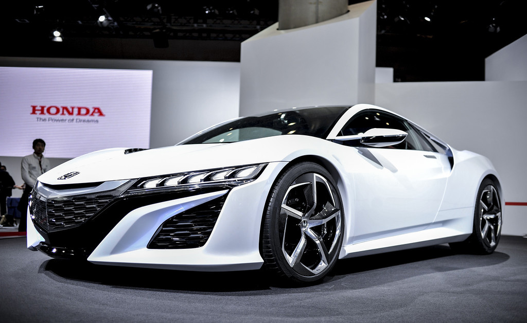 Description of . Honda Motor Co. NSX Concept sports vehicle is displayed during the 43rd Tokyo Motor Show 2013 at Tokyo Big Sight on November 20, 2013 in Tokyo, Japan.  (Photo by Keith Tsuji/Getty Images)