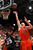 FT. COLLINS, CO. - FEBRUARY 13: Colton Iverson (45) of the Colorado State Rams put up a shot over Deshawn Stephens (23) of the San Diego State Aztecs in the second half. Colorado State defeated San Diego State 66-60 Wednesday night, February 13, 2013 at Moby Arena in Fort Collins. The Rams have won 27 straight games at home. (Photo By Karl Gehring/The Denver Post)