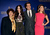 Hollywood Foreign Press Association (HFPA) President Dr. Aida Takla-O'Reilly, actors Megan Fox, Ed Helms, and Jessica Alba  pose onstage during the 70th Annual Golden Globes Awards Nominations at the Beverly Hilton Hotel on December 13, 2012 in Los Angeles, California.  (Photo by Kevin Winter/Getty Images)