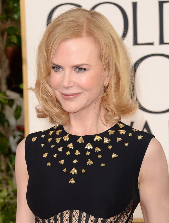 Description of . Actress Nicole Kidman arrives at the 70th Annual Golden Globe Awards held at The Beverly Hilton Hotel on January 13, 2013 in Beverly Hills, California.  (Photo by Jason Merritt/Getty Images)