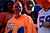 Broncos fans wait for the start of the game.  The Denver Broncos vs The Tampa Bay Buccaneers at Sports Authority Field Sunday December 2, 2012. Joe Amon, The Denver Post