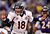 Denver Broncos quarterback Peyton Manning (18) calls out the play at the line of scrimmage during the fourth quarter against the Baltimore Ravens Sunday, December 16, 2012 at M&T Bank Stadium. John Leyba, The Denver Post