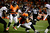 Denver Broncos wide receiver Eric Decker (87) gets taken down by Baltimore Ravens inside linebacker Dannell Ellerbe (59) in the fourth quarter. The Denver Broncos vs Baltimore Ravens AFC Divisional playoff game at Sports Authority Field Saturday January 12, 2013. (Photo by AAron  Ontiveroz,/The Denver Post)