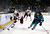 SAN JOSE, CA - JANUARY 24:  Shane Doan #19 of the Phoenix Coyotes tries to skate around Douglas Murray #3 of the San Jose Sharks at HP Pavilion on January 24, 2013 in San Jose, California.  (Photo by Ezra Shaw/Getty Images)