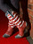 Susan Mock wearing flag boots.  The 2013 Coors Western Art Exhibit and Sale Red Carpet Reception at the National Western Stock Show Complex in Denver, Colorado, on Tuesday, Jan. 8, 2013. Photo Steve Peterson