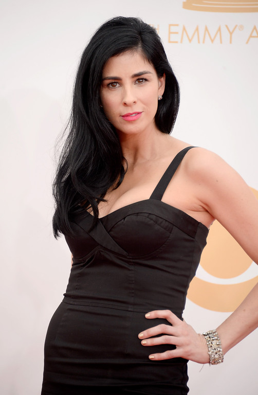 Description of . Actress Sarah Silverman arrives at the 65th Annual Primetime Emmy Awards held at Nokia Theatre L.A. Live on September 22, 2013 in Los Angeles, California.  (Photo by Frazer Harrison/Getty Images)