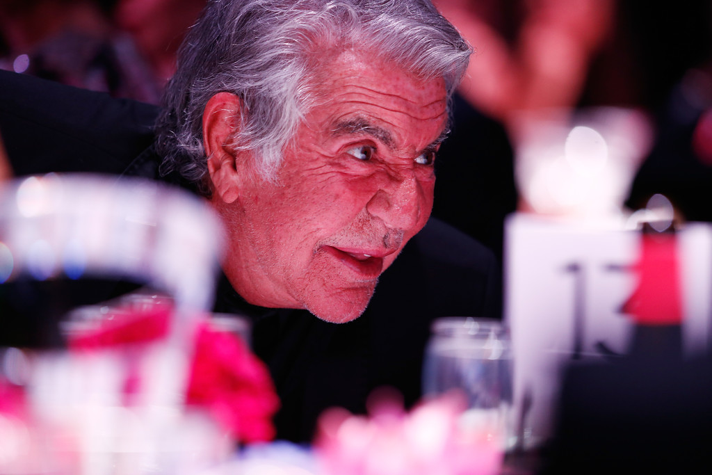 Description of . Roberto Cavalli attends the amfAR Milano 2013 Gala Dinner as part of Milan Fashion Week Womenswear Spring/Summer 2014 at La Permanente on September 21, 2013 in Milan, Italy.  (Photo by Andreas Rentz/Getty Images for amfAR)