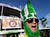 Ron Bokon of South Bend, Ind., makes his way to Sun Life Stadium before the BCS National Championship college football game between the Alabama and the Notre Dame Monday, Jan. 7, 2013, in Miami. (AP Photo/David J. Phillip)