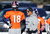 Denver Broncos quarterback Peyton Manning (18) talks with Eric Studesvilleduring practice Thursday, January 3, 2013 at Dove Valley.  John Leyba, The Denver Post