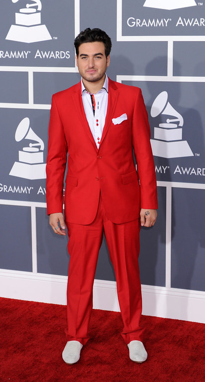Description of . Napone arrives to  the 55th Annual Grammy Awards at Staples Center  in Los Angeles, California on February 10, 2013. (Michael Owen Baker, staff photographer)