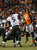Denver Broncos defensive end Robert Ayers (91) reaches for a pass thrown by Baltimore Ravens quarterback Joe Flacco (5). The Denver Broncos vs Baltimore Ravens AFC Divisional playoff game at Sports Authority Field Saturday January 12, 2013. (Photo by Joe Amon,/The Denver Post)