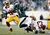 Bryce Brown #34 of the Philadelphia Eagles runs with the ball as Bryan Kehl #53 and Aldrick Robinson #11 of the Washington Redskins try to make the tackle at Lincoln Financial Field on December 23, 2012 in Philadelphia, Pennsylvania.  (Photo by Alex Trautwig/Getty Images)