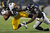 Fullback Will Johnson #46 of the Pittsburgh Steelers is tackled by safety Bernard Pollard #31 of the Baltimore Ravens in the first quarter at M&T Bank Stadium on December 2, 2012 in Baltimore, Maryland. (Photo by Patrick Smith/Getty Images)