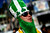 A Notre Dame Fighting Irish fan dressed in a costume, stands outside Sun Life stadium before the BCS National Championship college football game between the Alabama Crimson Tide and the Notre Dame Fighting Irish in Miami, Florida January 7, 2013. REUTERS/Mike Segar