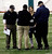 Lauren Silberman talks to officials after taking two attempts during kicker tryouts at an NFL football regional combine workout, Sunday, March 3, 2013, at the New York Jets' training facility in Florham Park, N.J. (AP Photo/Mel Evans)