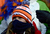 Broncos fans bundle up in the first quarter. The Denver Broncos vs Baltimore Ravens AFC Divisional playoff game at Sports Authority Field Saturday January 12, 2013. (Photo by AAron  Ontiveroz,/The Denver Post)