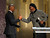 Samuel L. Jackson, right, presents the award for entertainer of the year to Jamie Foxx at the 44th Annual NAACP Image Awards at the Shrine Auditorium in Los Angeles on Friday, Feb. 1, 2013. (Photo by Matt Sayles/Invision/AP)