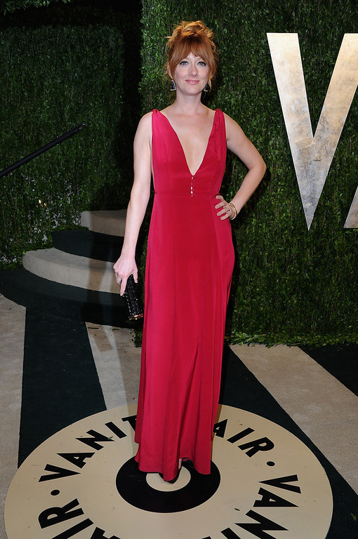 Description of . Actress Judy Greer arrives at the 2013 Vanity Fair Oscar Party hosted by Graydon Carter at Sunset Tower on February 24, 2013 in West Hollywood, California.  (Photo by Pascal Le Segretain/Getty Images)