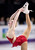 Gracie Gold, from the United States, performs her routine during the ladies short program at the World Figure Skating Championships Thursday, March 14, 2013, in London, Ontario. (AP Photo/The Canadian Press, Paul Chiasson)