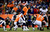 Denver Broncos quarterback Peyton Manning (18) calls a play at the line in the third quarter. The Denver Broncos vs Baltimore Ravens AFC Divisional playoff game at Sports Authority Field Saturday January 12, 2013. (Photo by AAron  Ontiveroz,/The Denver Post)