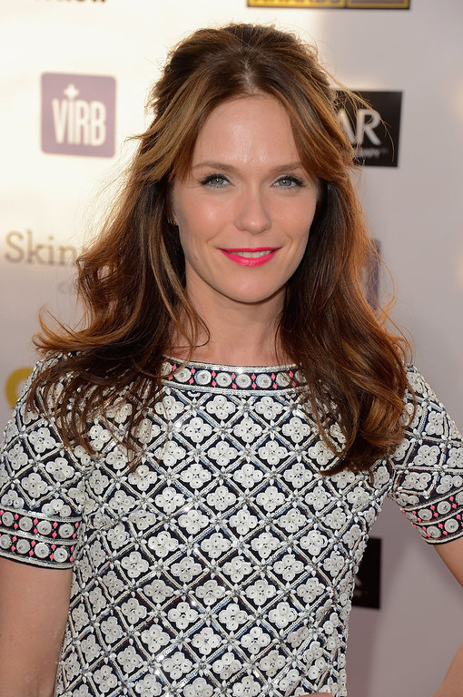 Description of . Actress Katie Aselton arrives at the 18th Annual Critics' Choice Movie Awards at Barker Hangar on January 10, 2013 in Santa Monica, California.  (Photo by Frazer Harrison/Getty Images)
