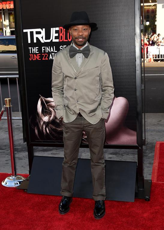 Description of . Actor Nelsan Ellis attends the premiere of HBO's
