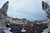 In a photo taken with a fisheye lens, crowds gather in St. Peter's Square to wait for the election of a new pope by the cardinals in conclave in the Sistine Chapel at the Vatican, Wednesday, March 13, 2013. (AP Photo/Andrew Medichini)