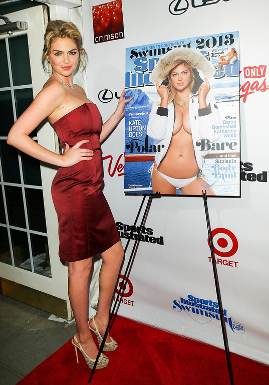 Description of . This image released by Starpix shows cover model Kate Upton at the 2013 Sports Illustrated Swimsuit issue launch party at Crimson on Tuesday, Feb. 12, 2013 in New York. (AP Photo/Starpix, Andrew Toth)