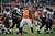 Denver Broncos outside linebacker Wesley Woodyard (52) celebrates after taking down Baltimore Ravens running back Ray Rice (27) during the second quarter.  The Denver Broncos vs Baltimore Ravens AFC Divisional playoff game at Sports Authority Field Saturday January 12, 2013. (Photo by Hyoung Chang,/The Denver Post)