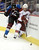DENVER, CO. - FEBRUARY 11: David Jones (54) of the Colorado Avalanche pounds Derek MOrris (53) of the Phoenix Coyotes in to the boards during the first period February 11, 2013 at Pepsi Center.(Photo By John Leyba/The Denver Post)