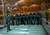 Riot Police make a cordon during a protest of Spanish Airline Iberia staff against job cuts at Barajas Airport on February 18, 2013 in Madrid, Spain. Today is the first of a five day strike held by Iberia cabin crew, maintenance workers and ground staff in response to the planned loss of 3,800 jobs. The strike has resulted in the airline having to cancel 400 flights this week with unions planning a further five day strikes within a month.  (Photo by Pablo Blazquez Dominguez/Getty Images)