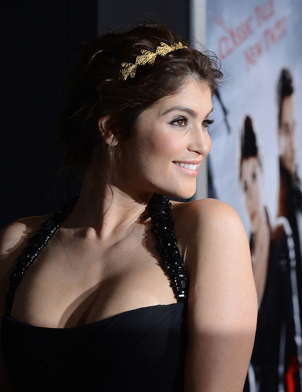 Description of . Actress Gemma Arterton arrives for the Los Angeles premiere of Paramount  Pictures'