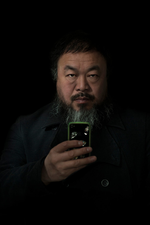 Description of . World Press Photo 2nd prize Prize People in Staged Portraits Single by Stefen Chow, Malaysia, for Smithsonian magazine, shows a portrait of Ai Wei Wei, Beijing, China, Feb. 6, 2012. (AP Photo/Stefen Chow, Smithsonian magazine)