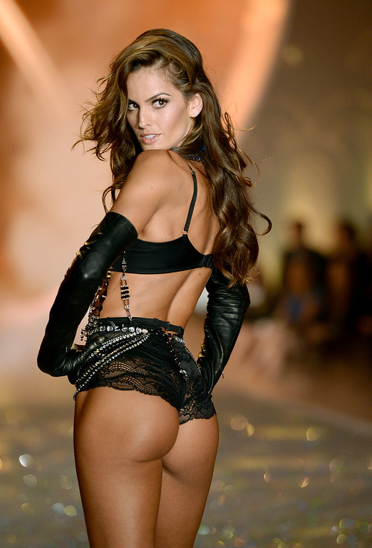 Description of . Model Izabel Goulart walks the runway at the 2013 Victoria's Secret Fashion Show at Lexington Avenue Armory on November 13, 2013 in New York City.  (Photo by Dimitrios Kambouris/Getty Images for Victoria's Secret)