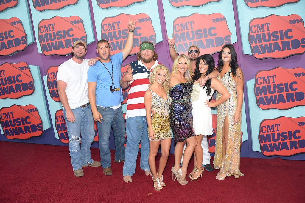 Description of . The cast of CMT's Party Down South attend the 2014 CMT Music awards at the Bridgestone Arena on June 4, 2014 in Nashville, Tennessee.  (Photo by Michael Loccisano/Getty Images)