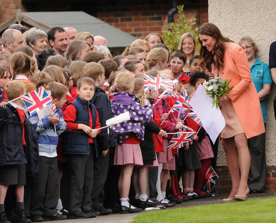 Description of . Catherine, Duchess Of Cambridge visits Naomi House on April 29, 2013 in Hampshire, England.  (Photo by Eamonn M. McCormack/Getty Images)