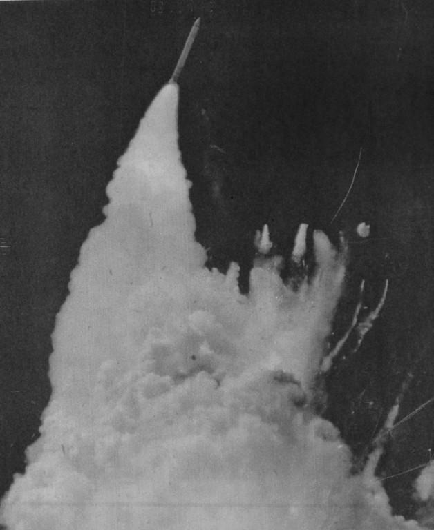 Description of . Challenger explosion. See Master Caption. UPI