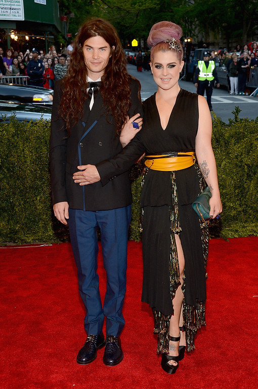 Description of . Matthew Mosshart and Kelly Osbourne attend the Costume Institute Gala for the