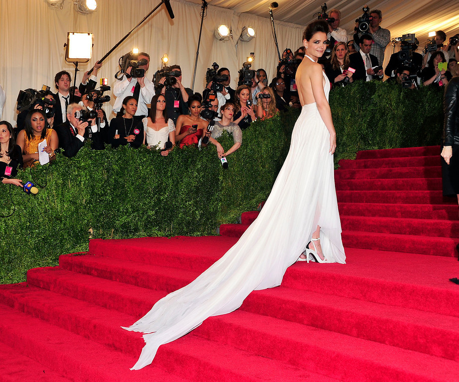 Description of . Katie Holmes attends The Metropolitan Museum of Art's Costume Institute benefit celebrating