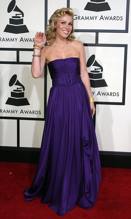 Description of . Singer Natasha Bedingfield arrives at the 50th Grammy Awards in Los Angeles on February 10, 2008. AFP PHOTO/Gabriel BOUYS