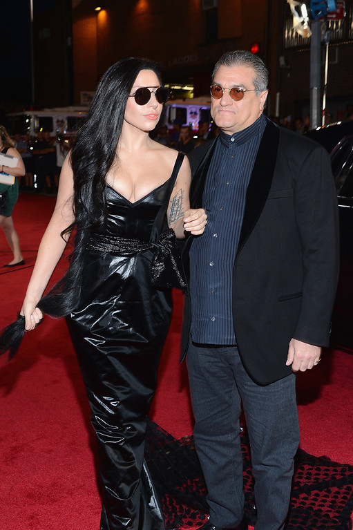 Description of . Lady Gaga and Joe Germanotta attend the 2013 MTV Video Music Awards at the Barclays Center on August 25, 2013 in the Brooklyn borough of New York City.  (Photo by Larry Busacca/Getty Images for MTV)
